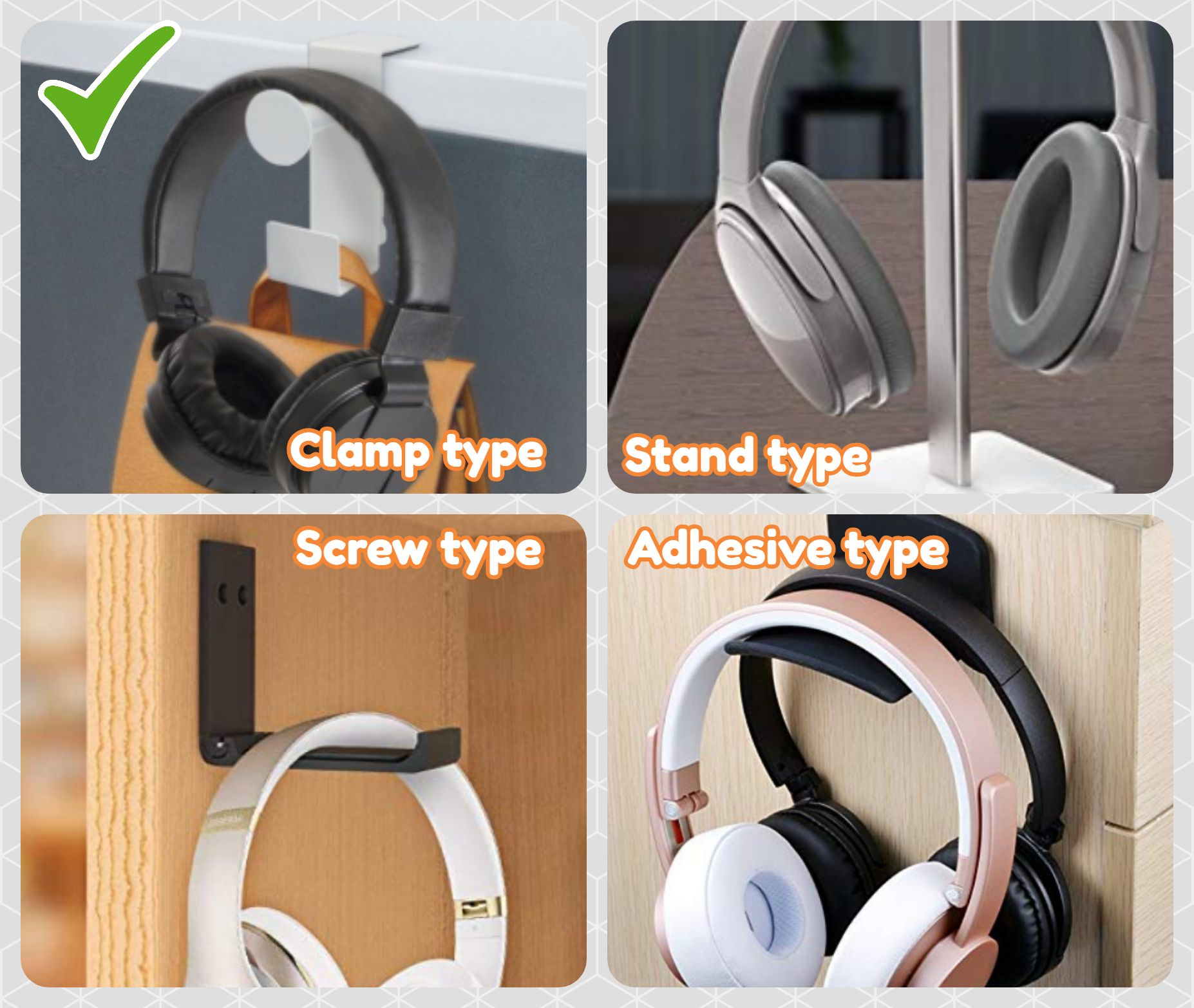 Headphone Hanger Comparison